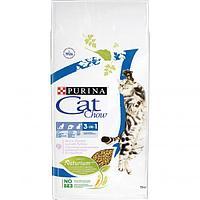 Cat Chow Feline 3 in 1 Сухой корм для кошек Purina Cat Chow Feline тройная защита, домашняя птица и индейка,
