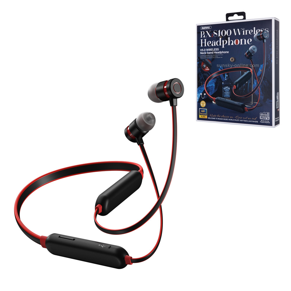 Bluetooth Гарнитура Remax RX S100, micro SC Music Can Be Played Anytime, Black