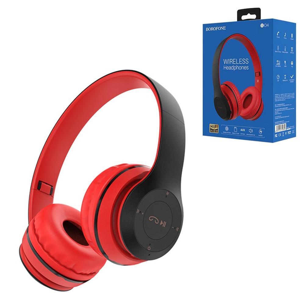 Bluetooth гарнитура Borofone BO4, Red
