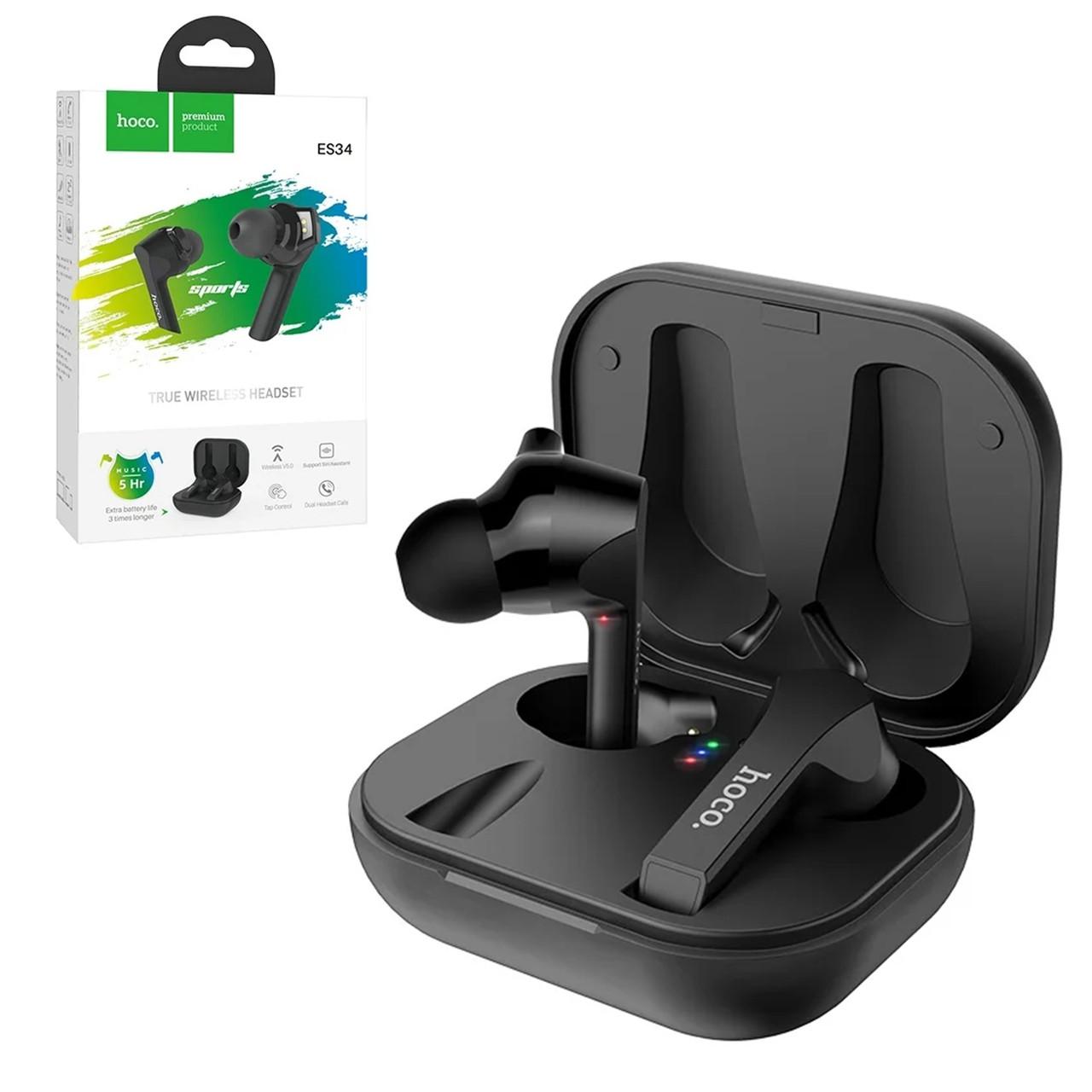 Bluetooth гарнитура Hoco ES34 True Wireless Sports, Black