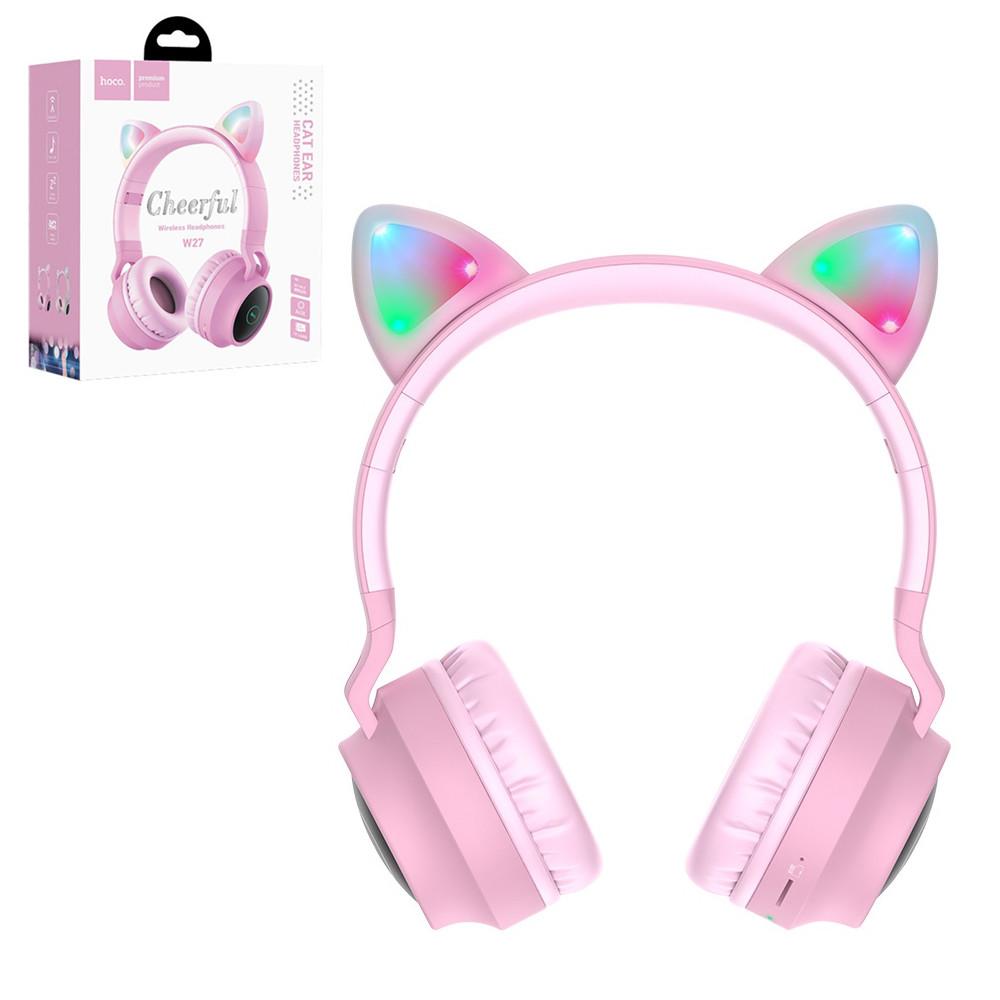 Bluetooth гарнитура Hoco W27 Cat Ear, Piunk