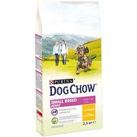 Dog Chow сухой корм для мелких пород собак, 2,5 кг с курицей.