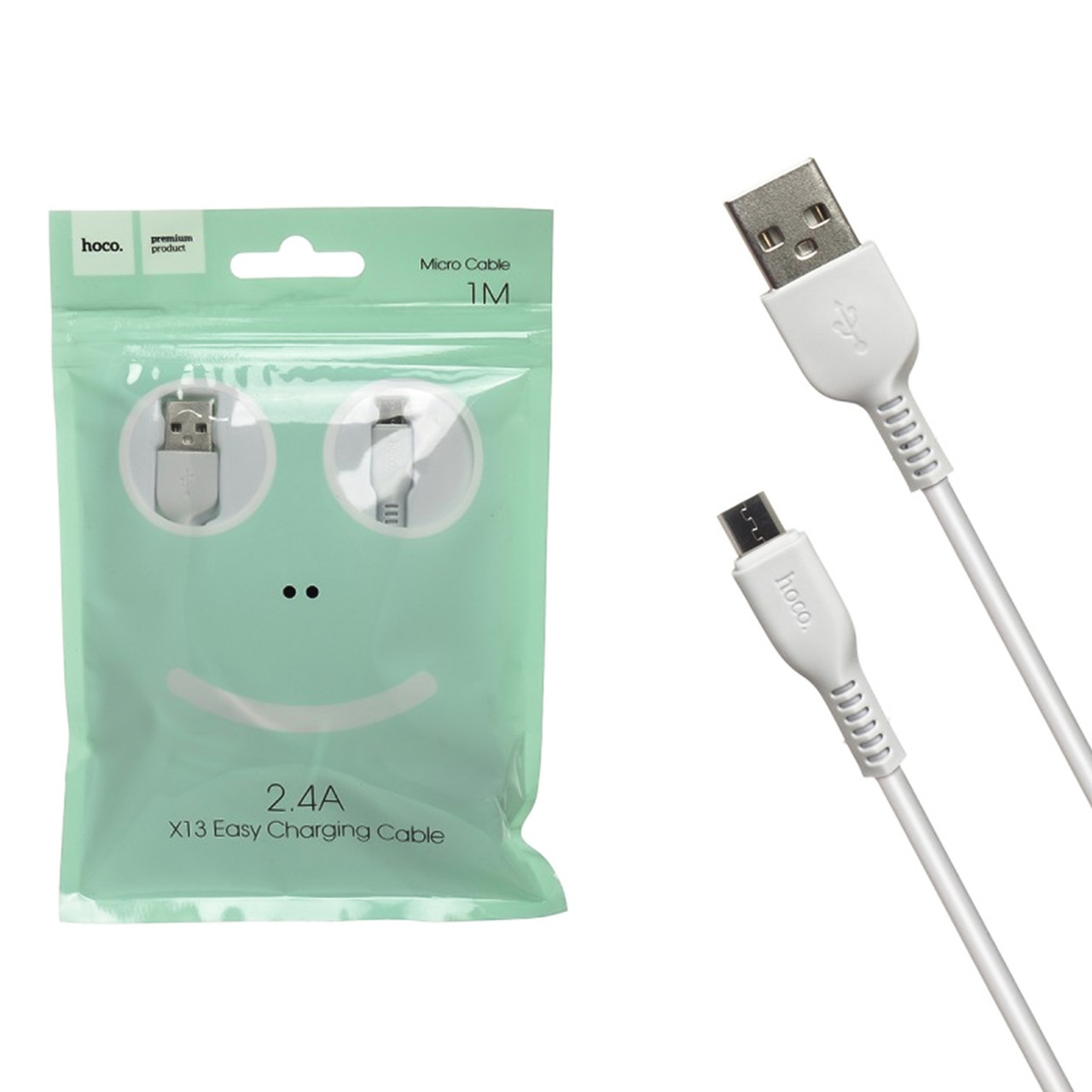 Кабель Micro USB Hoco X13 Easy 1.0m White