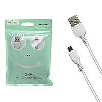 Кабель Micro USB Hoco X13 Easy 1.0m White