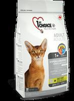 1st Choice HYPOALLERGENIC беззерновой корм для взрослых кошек с уткой, 5,44 кг