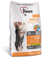 1st Choice Adult Toy and Small breeds сухой корм для взрослых собак мелких и миниатюрных пород, 2,72 кг