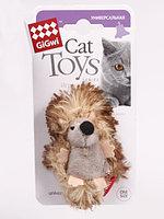 GIGWI Игрушка для кошек Ежик с погремушкой 7 см АРТ 75029