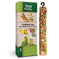 TRIOL Original Лакомство для волнистых попугаев с фруктами (уп.2шт.), 55г АРТ 50161014