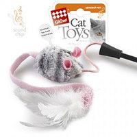 GIGWI Игрушка для кошек Дразнилка на стеке с музыкальным чипом 51 см АРТ 75111