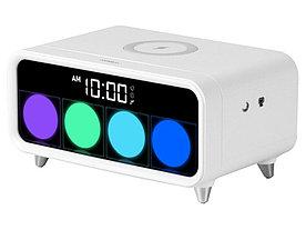 Часы с беспроводным зарядным устройством Rombica Timebox 1, белый