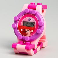 Часы наручные лего, Русалочка, Принцессы, с ремешком-конструктором