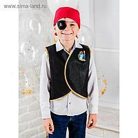 Карнавальный костюм «Морской разбойник», жилетка, наглазник, термонаклейка, бандана
