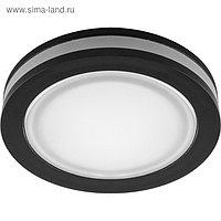 Встраиваемый светодиодный светильник AL600, 7W, 560 Lm, 4000К, черный, d=65мм