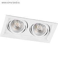 Встраиваемый светодиодный светильник AL202, 2x12W, 2160 Lm, 4000К, цвет белый