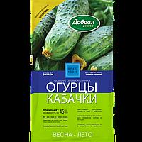 Добрая сила Сухое удобрение Огурцы-Кабачки, пакет 0,9 кг/ 12