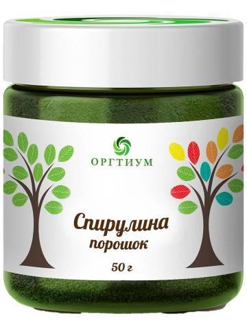 Спирулина порошок 50 гр, Оргтиум