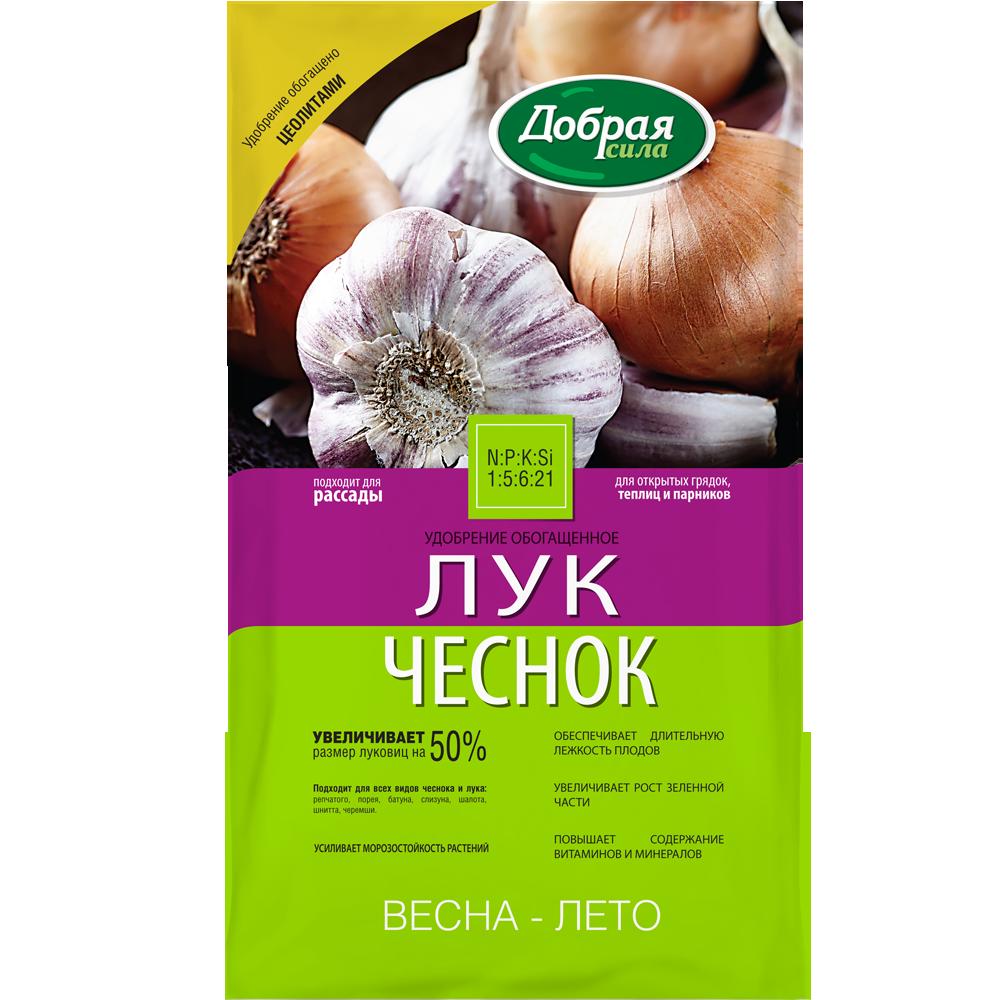 Добрая сила Сухое удобрение Лук-Чеснок, пакет 0,9 кг/ 12