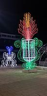 Ламповый Дюралайт 100 м бухта круглый 2-х жильный. Все цвета. Круглый 24 диода, фото 9