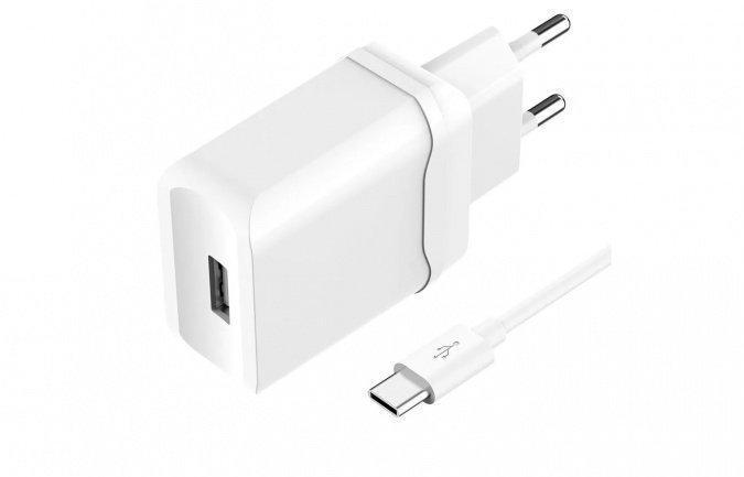 Зарядное устройство сетевое OLMIO USB, 2.4A, Smart IC +lightning кабель