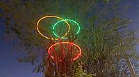 Ламповый Дюралайт 100 м бухта круглый 2-х жильный. Все цвета. Круглый 24 диода, фото 10