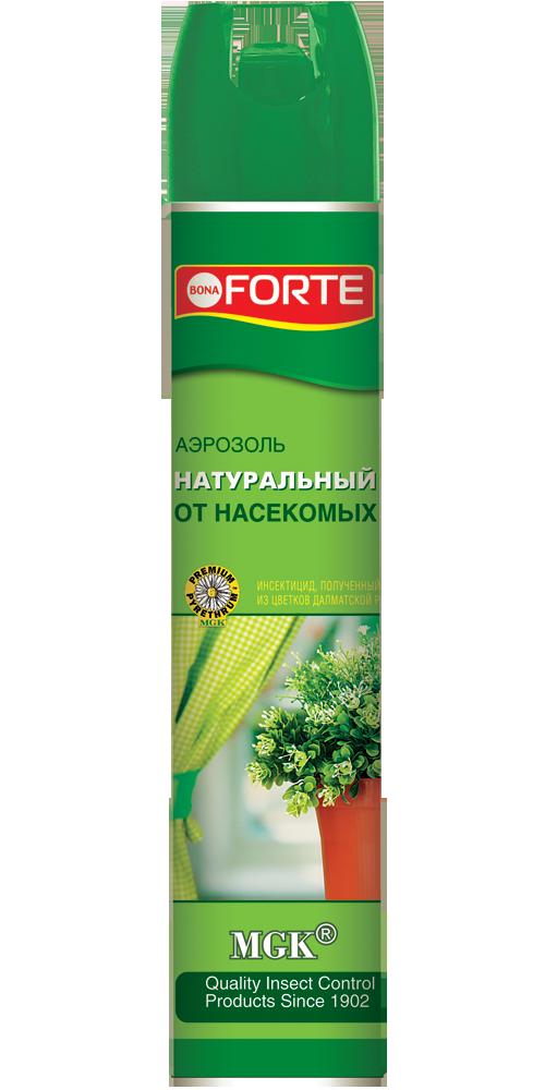 Bona Forte Аэрозоль Натуральное инсектицидное средство от летающих насекомых-вредителей, баллон 300 мл/ 12