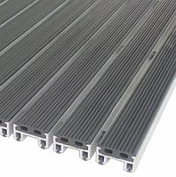 Алюминиевая придверная решетка 60х40 с резиновыми вставками