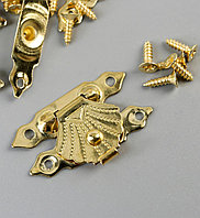 Замок металл для шкатулки золото набор 10 шт 2х3 см