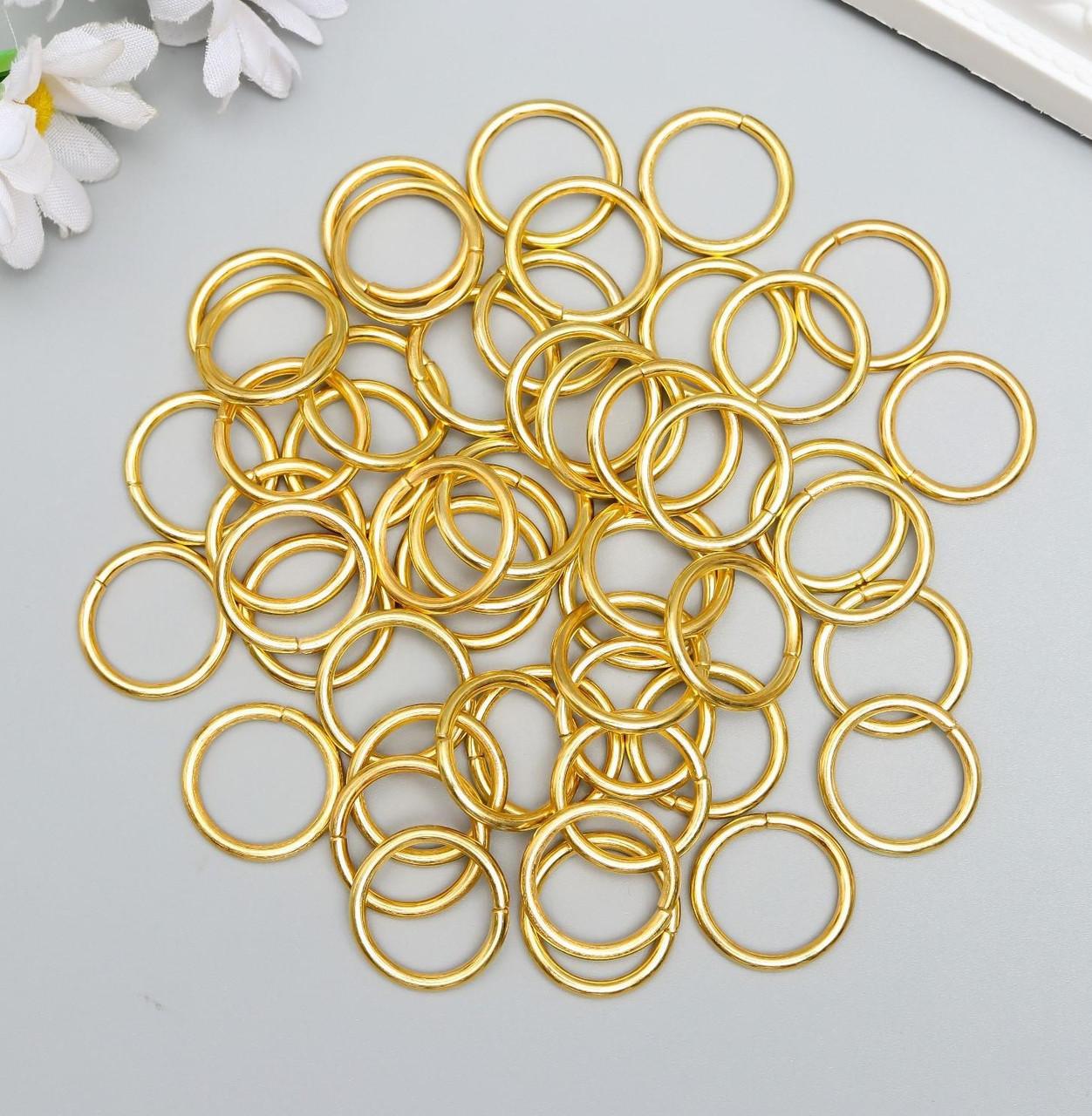 Соединительное кольцо металл золото 2,2х2,2 см набор 50 шт