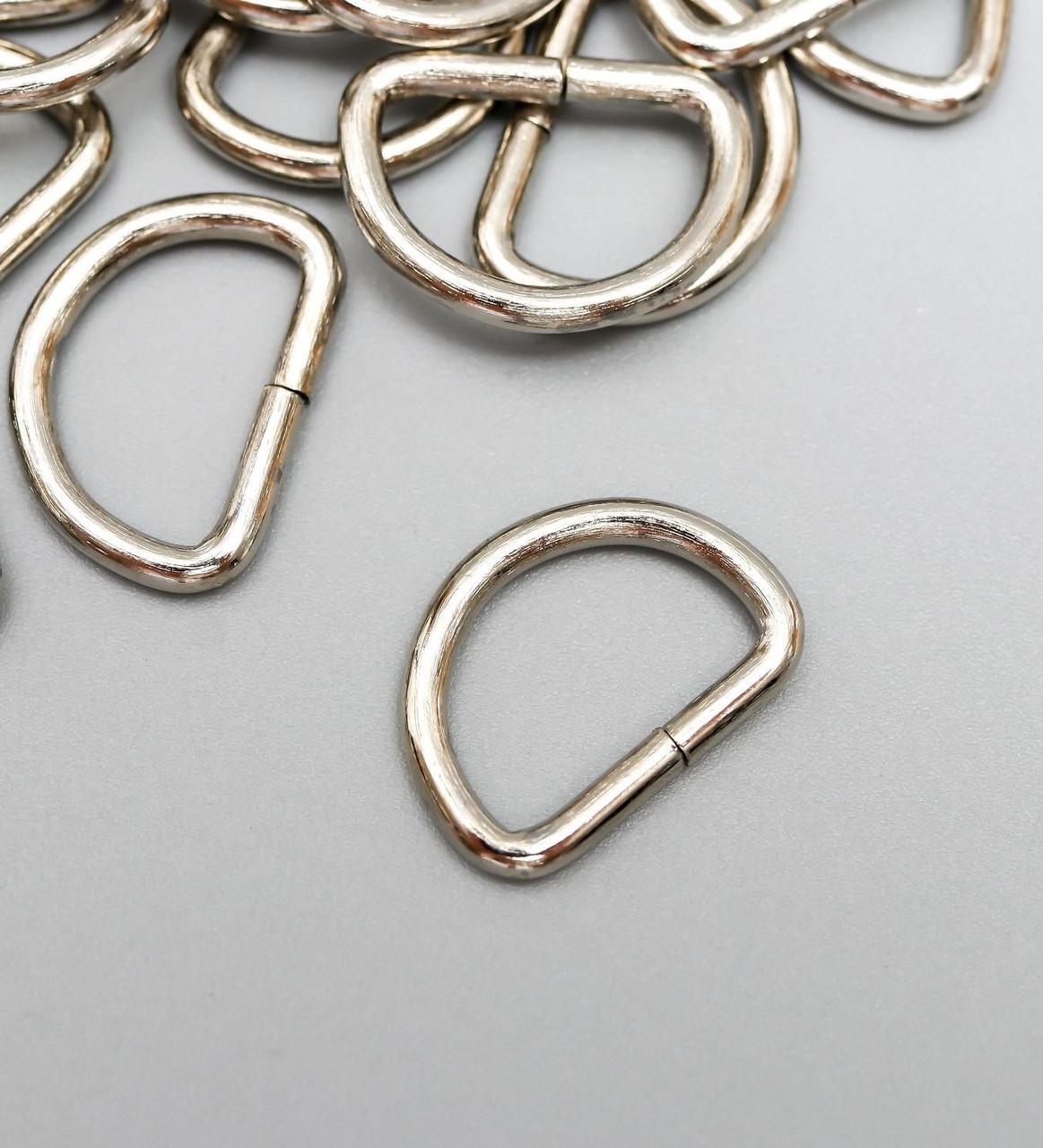 Основа для брелока соединительный элемент полукруг набор 90 шт серебро 1,1х1,6 см