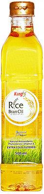 Масло из рисовых отрубей King, 500 мл (рафинированное, экстра-холодной фильтрации)