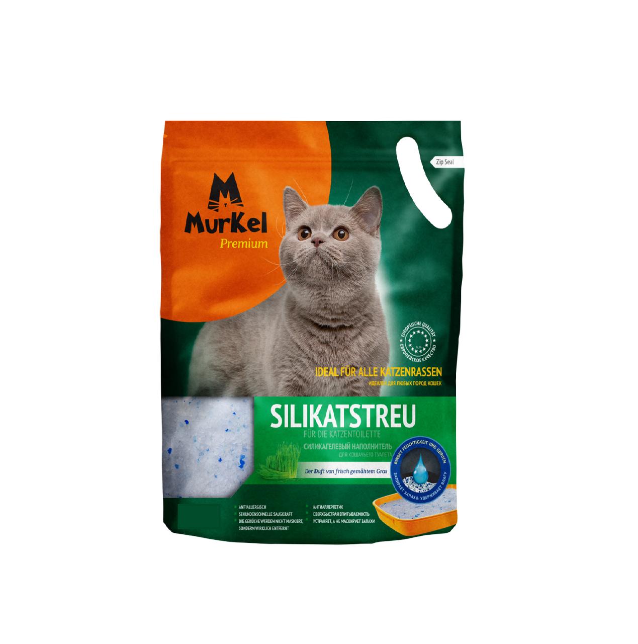 С ароматом скошенной травы, 4л., впитывающий силикагелевый наполнитель Murkel