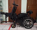 Инвалидная электрическая коляска с вертикализатором, мощность моторов 350w*2 (700w), аккум. 24v  40A/H., фото 4