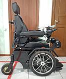 Инвалидная электрическая коляска с вертикализатором, мощность моторов 350w*2 (700w), аккум. 24v  40A/H., фото 3