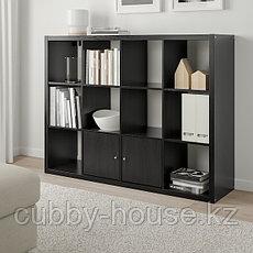 КАЛЛАКС Стеллаж, черно-коричневый, 112x147 см, фото 2