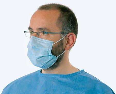 Медицинские маски трехслойные заводские