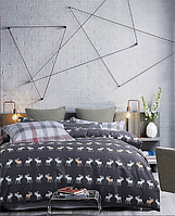 Постельное белье с лосями , 2-спальное