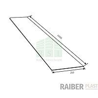 "Стеновая ПВХ панель ""Raiber Plast"" RP L (белый) 4 метра, фото 2"
