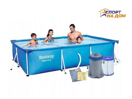 Прямоугольный бассейн BestWay 56411 (300*201*66 см, на 3300 л), фото 2