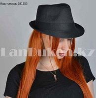 Шляпа трилби на вечеринку (маленькая) черная