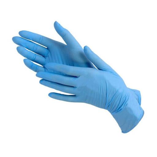UNEX Перчатки нитрил смотровые, нестерильные Синие 50 пар размеры M,L.