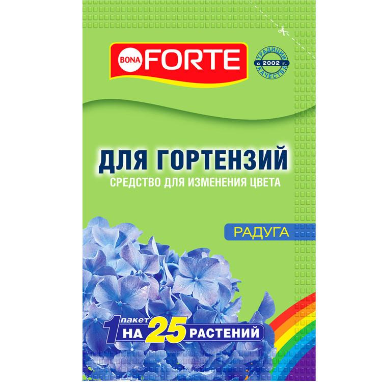 Bona Forte Средство сухое Радуга для изменения цвета гортензий, пак. 100 г/ 16
