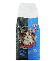 Для длинношерстных кошек, 7л., впитывающий минеральный наполнитель Brava