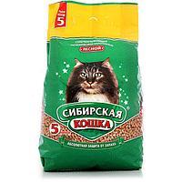 Лесной, 5л., древесный впитывающий наполнитель Сибирская Кошка