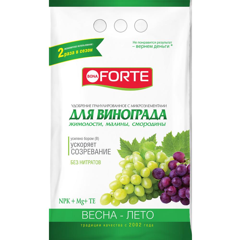 Bona Forte Удобрение комплексное гранулированное с микроэлементами Для винограда, пакет 2 кг/ 8