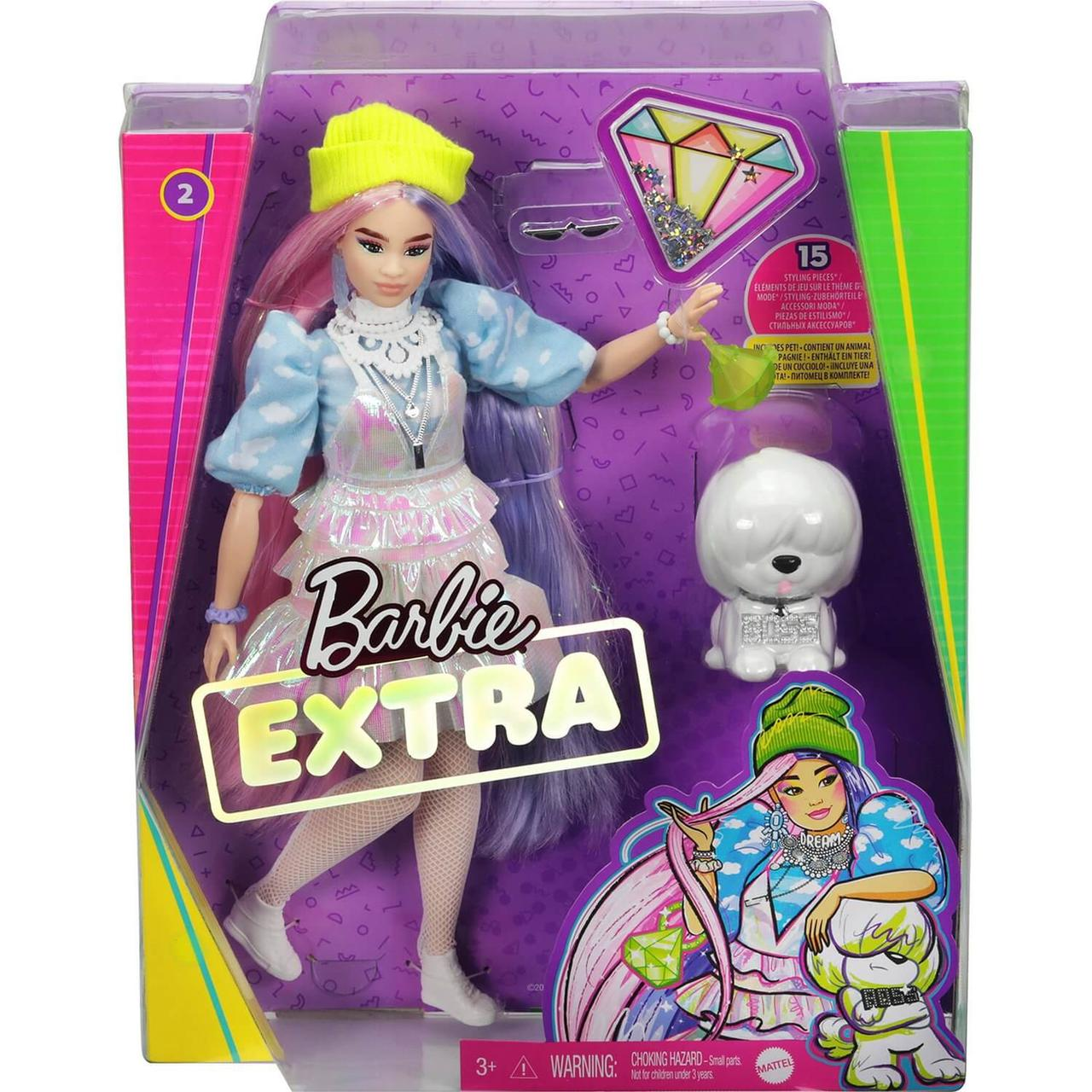 Кукла Barbie Экстра в радужном пальто