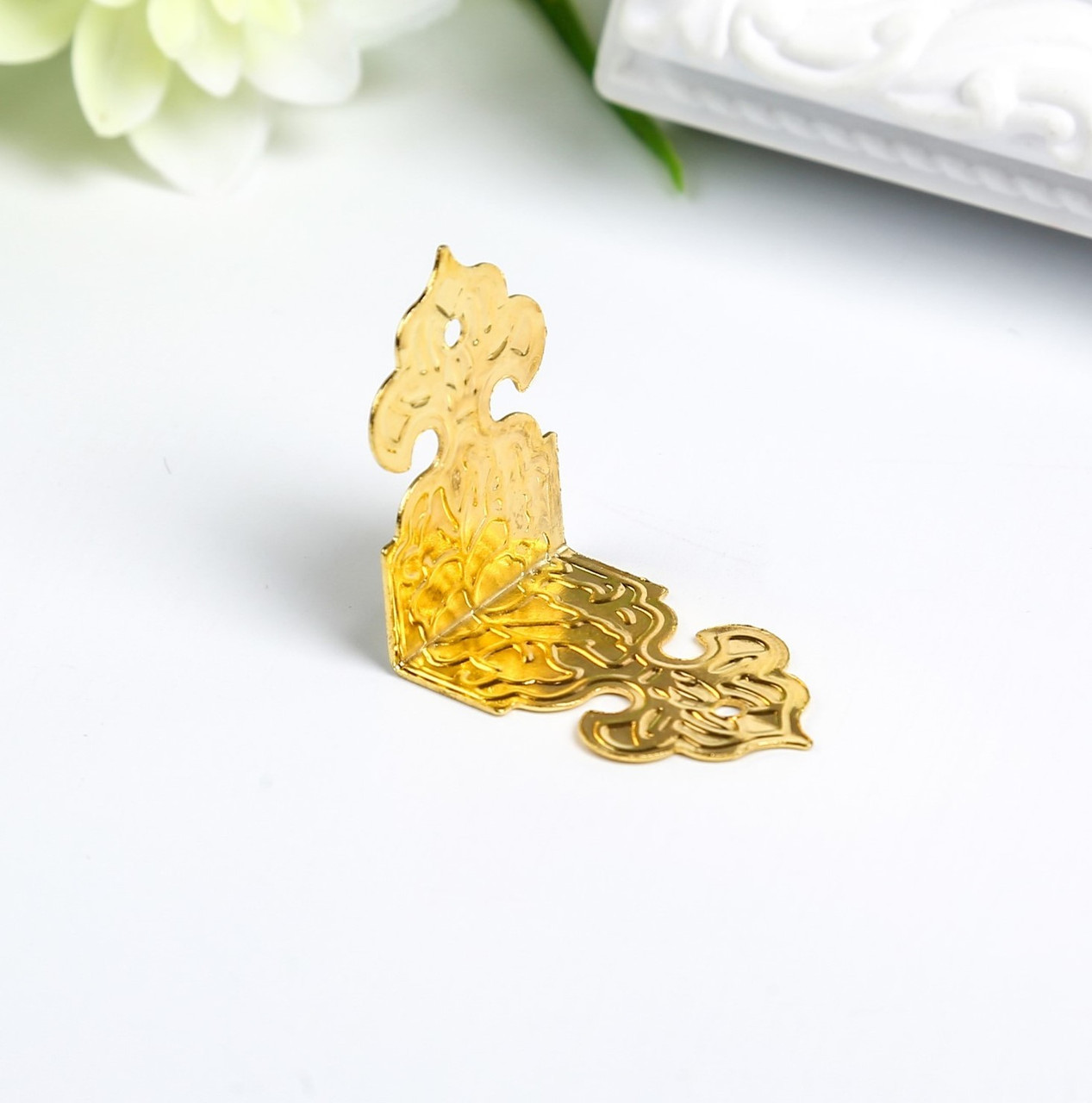 Накладка для шкатулки, золото 2,5х1,7 см (набор 4 шт)