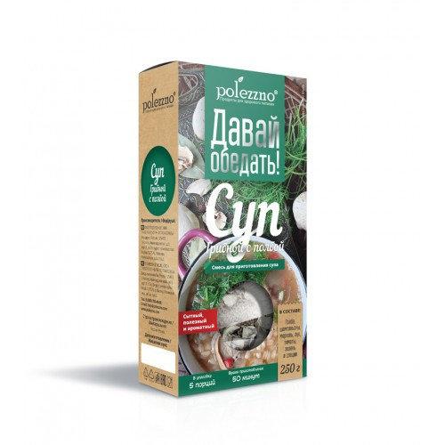 Polezzno Суп грибной с полбой, 250 гр