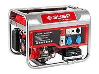 Бензиновый электрогенератор ЗУБР ЗЭСБ-2800-Э, двигатель 4-х тактный, ручной и электрический пуск, 2800/2500Вт,