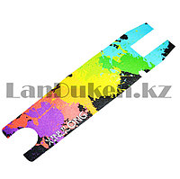 Наклейка для трюковых самокатов самоклеющаяся наждачная бумага Xinlilong с разноцветным узором