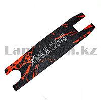 Наклейка для трюковых самокатов самоклеющаяся наждачная бумага Xinlilong с красным узором